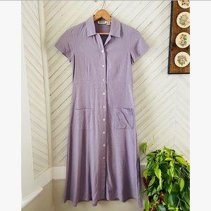 Noil Silk Casual Day Dress